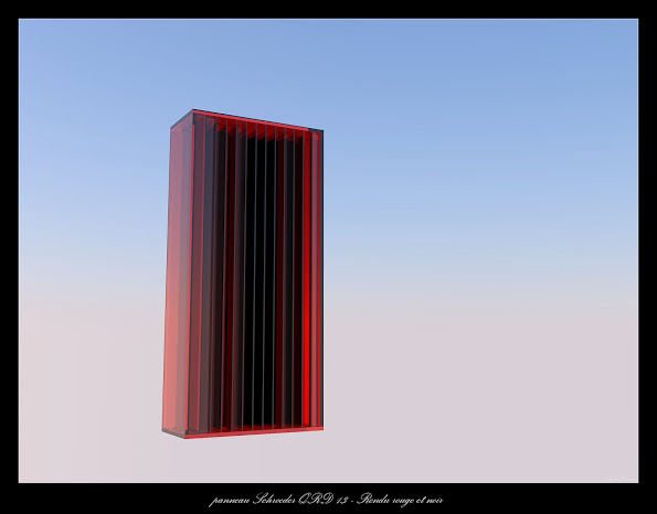 panneau Schroeder QRD 13 - Rendu rouge et noir qrd 13 rendu altu rouge et noir